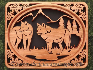 Scroll Saw Wolves Pattern