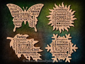 Scroll Saw Word Cloud Patterns