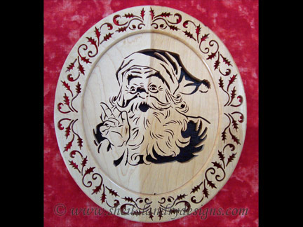 Santa Scroll Saw Pattern