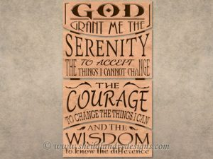Serenity Prayer Scroll Saw Pattern