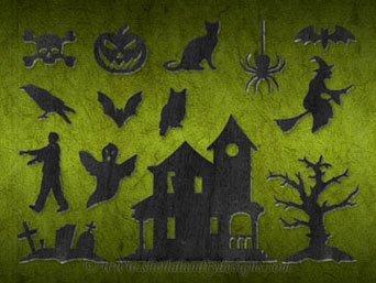 Simple Halloween Ornaments Laser Pattern