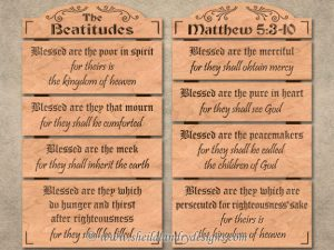 Scroll Saw Beatitudes Pattern