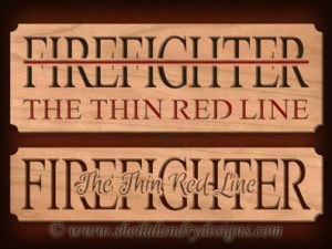 Scroll Saw Firefighter Thin Red Line Pattern
