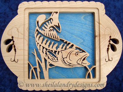 Smallmouth Bass Scroll Saw Fishing Pattern