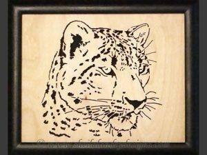Snow Leopard Scroll Saw Pattern