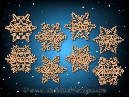 Snowflake Ornaments Laser Pattern