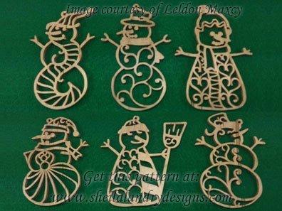 Snowman Ornaments Scroll Saw Template
