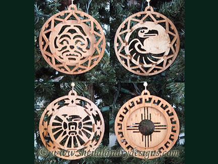 Southwestern Scroll Saw Christmas Ornaments