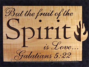 Spirit Scroll Saw Bible Passage Pattern