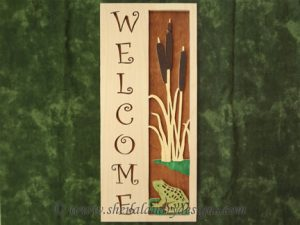 Spring Scroll Saw Welcome Pattern