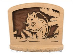 Squirrel Napkin Holder Scroll Saw Pattern