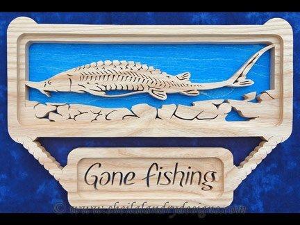 Sturgeon Scroll Saw Fishing Pattern