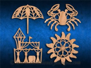 Summer Scroll Saw Ornaments Pattern