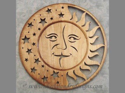 Sun Moon Scroll Saw Pattern