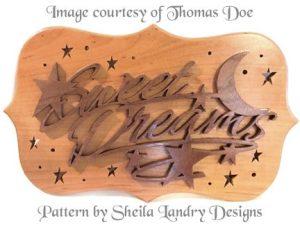 Sweet Dreams Scroll Saw Wall Art