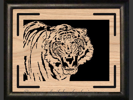 Tiger Portrait Scroll Saw Pattern
