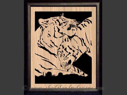 Tiger Scroll Saw Pattern