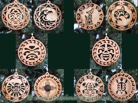 Totem Ornaments Scroll Saw Pattern