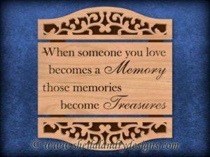 Treasured Memories Scroll Saw Pattern
