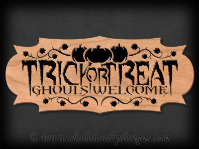 Trick Or Treat Laser Pattern