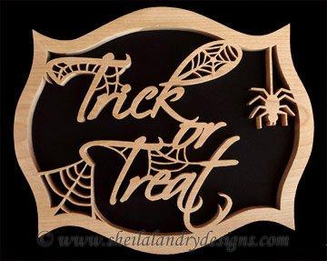 Trick Or Treat Scroll Saw Pattern
