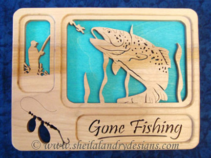 Trout Scroll Saw Fishing Pattern