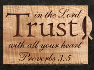 Trust Scroll Saw Bible Passage Pattern