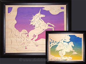 Unicorn & Pegasus Scroll Saw Pattern