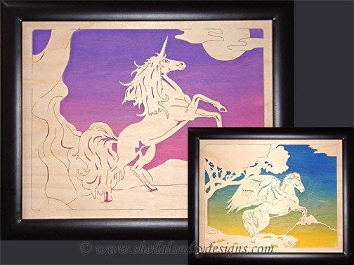 Unicorn & Pegasus Scroll Saw Pattern