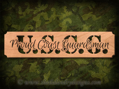 USCG Proud Scroll Saw Pattern