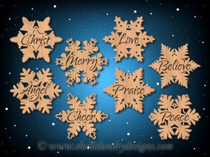 Vector Snowflakes Ornaments