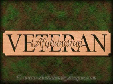 Afghanistan Veteran Scroll Saw Pattern