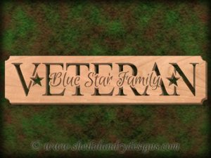Blue Star Family Scroll Saw Pattern