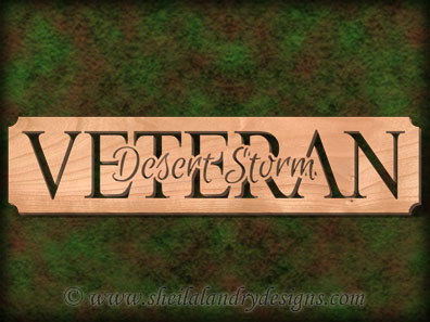 Desert Storm Veteran Scroll Saw Pattern