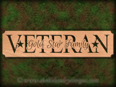 Veteran Gold Star Family Scroll Saw Pattern
