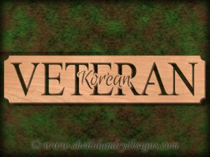 Korean Veteran Scroll Saw Pattern