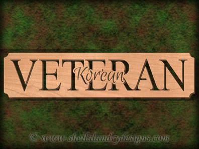 Korean Veteran Scroll Saw Pattern