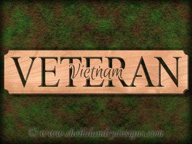 Vietnam Veteran Scroll Saw Pattern