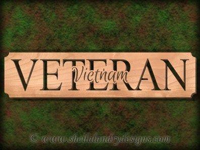 Vietnam Veteran Scroll Saw Pattern