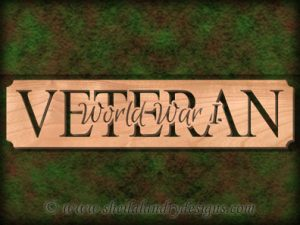 World War I Veteran Scroll Saw Pattern