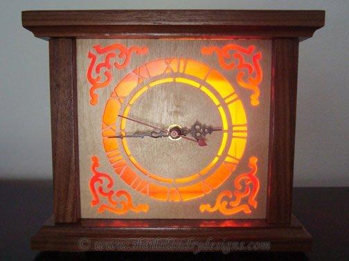 Victorian Scroll Saw Clock Pattern