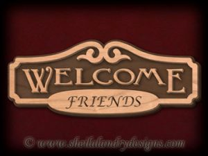 Welcome Friends Overlay Scroll Saw Pattern
