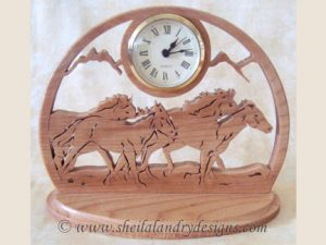 Wild Horses Clock Scroll Saw Pattern