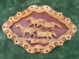 Wild Horses Scroll Saw Pattern