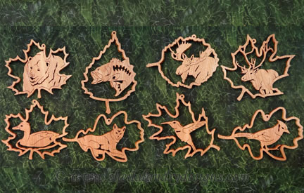 Wildlife Ornaments Laser Pattern