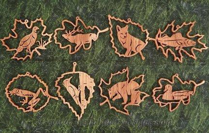 Wildlife Ornaments Laser Pattern