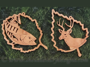 Wildlife Ornaments Scroll Saw Pattern
