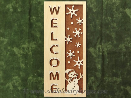 Winter Scroll Saw Welcome Pattern