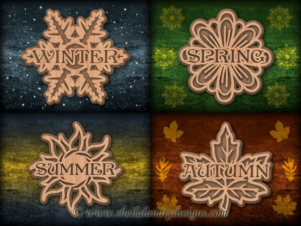 Winter Spring Summer Autumn Scroll Saw Pattern