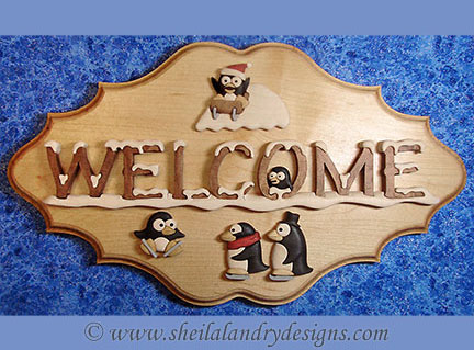 Winter Welcome Segmentation Scroll Saw Pattern